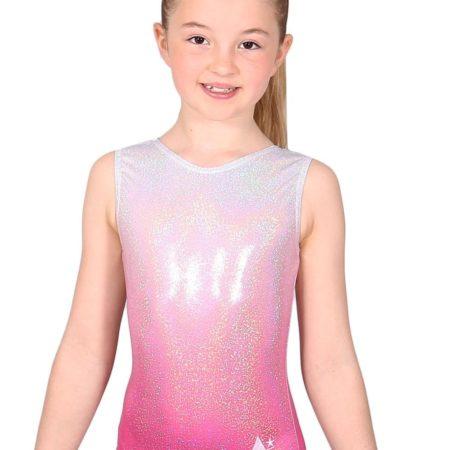 AURORA O05 Pink Ombre gymnastics leotard front