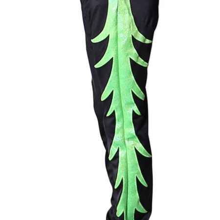 BAPZ262J02 S49 Mens acro trousers with pattern black and green
