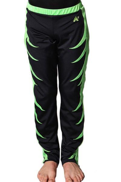 BAPZ262J02 S49 Mens acro trousers with pattern black and green front
