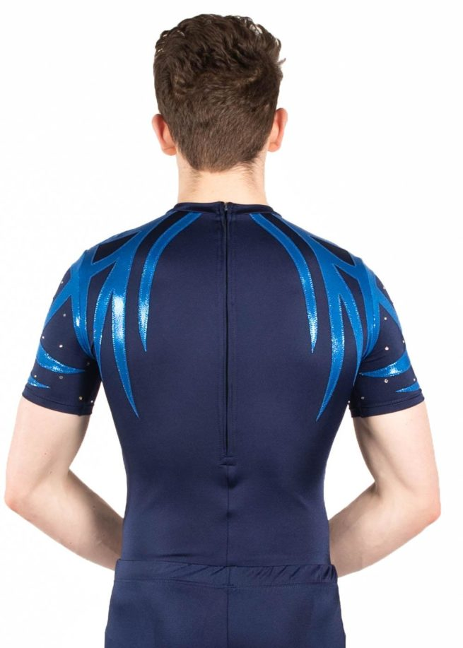 BSA444 Haven navy boys acro leotard back