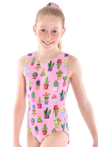 CACTUS SP L144 Pink patterned leotard front