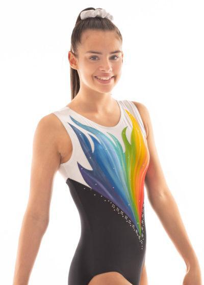 ERIKA HP Z343 Flame painted leotard side