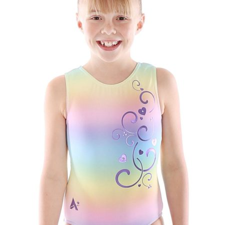 MELISSA P20 Pzazz patterned gym leotard front