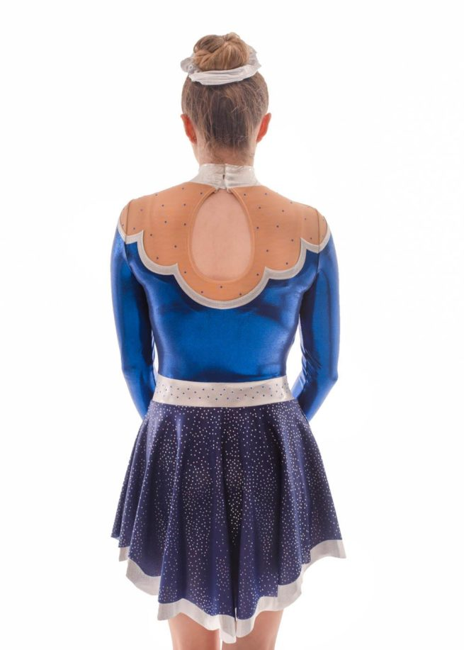 Maelys MAJ504 Navy Skirted Leotard dress majorettes back