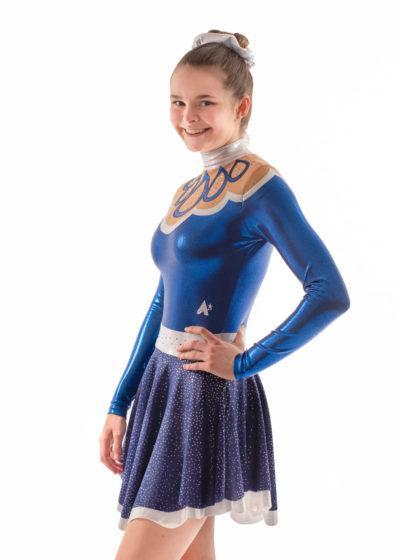 Maelys MAJ504 Navy Skirted Leotard dress majorettes side1