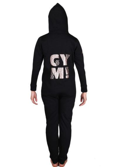 ONE 01 RGGYM black girls onesie back