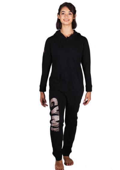 ONE 01 RGGYM black girls onesie front