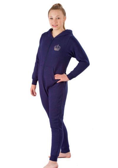 ONE 02 VIP G42 navy girls gymnastics onesie