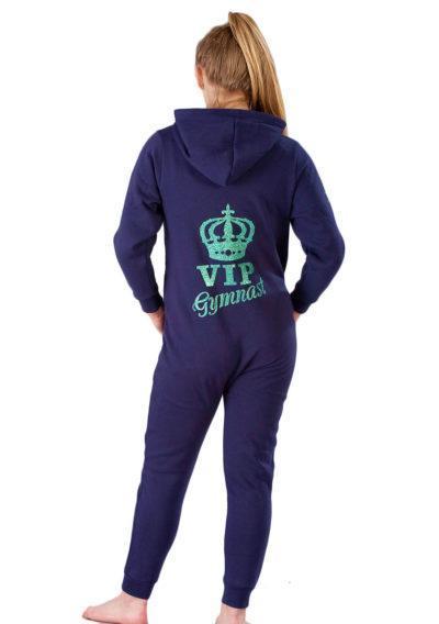 ONE 02 VIP G42 navy girls gymnastics onesie back