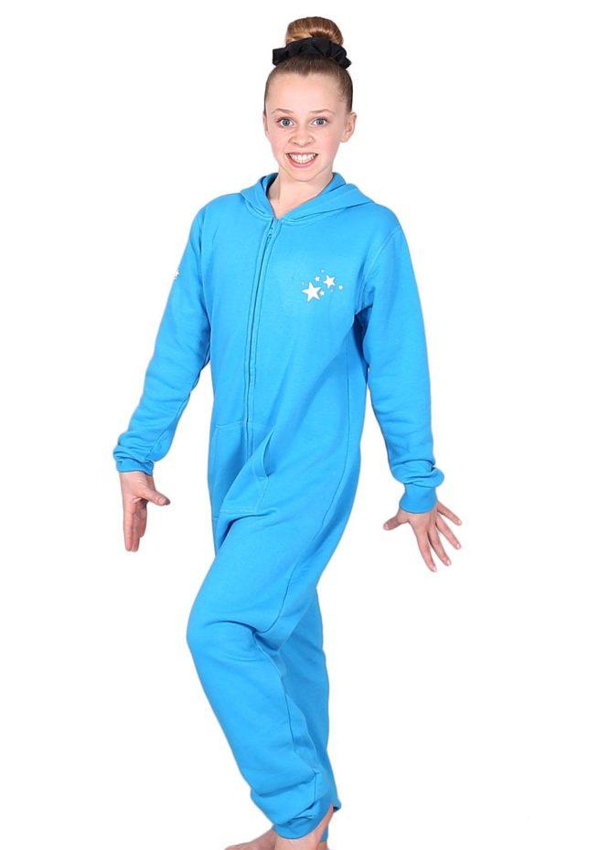 ONE 52 JOTB Turquoise printed onesie