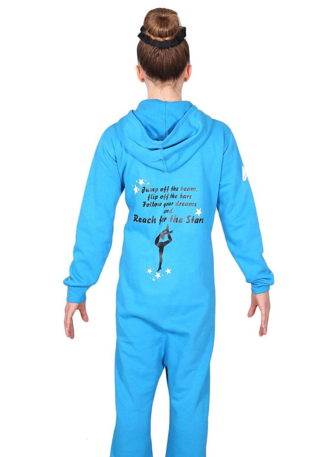 ONE 52 JOTB Turquoise printed onesie back