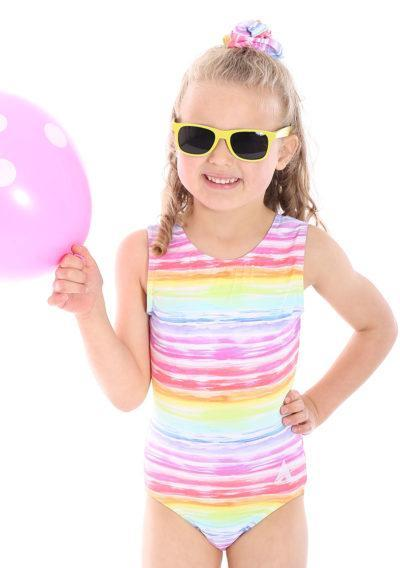 PASTEL SUNRISE SP L150 Rainbow patterend gymnastics training leotard cute