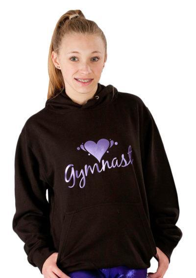 PTH 01 07GYM black hoodie with gymnast print