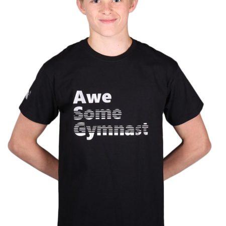 PTT 01 AWE black t shirt with gymnastics print