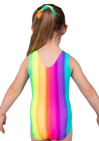 RAINBOW SP L127 patterened sleevless leotard back