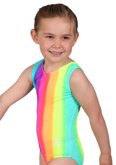 RAINBOW SP L127 patterened sleevless leotard side