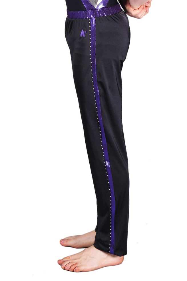 RILEY Bapz301j01 s07 Black mens acro trousers side