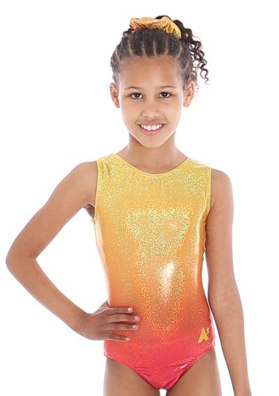 TIANA O71 Yellow to orange ombre leotard