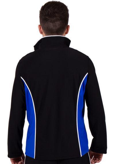 TS12B Black and Blue tracksuit jacket back