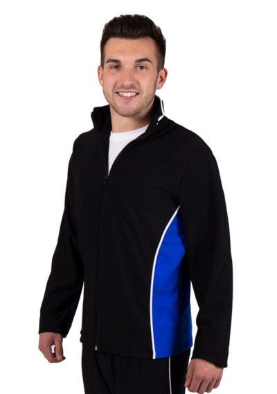 TS12B Black and Blue tracksuit jacket side