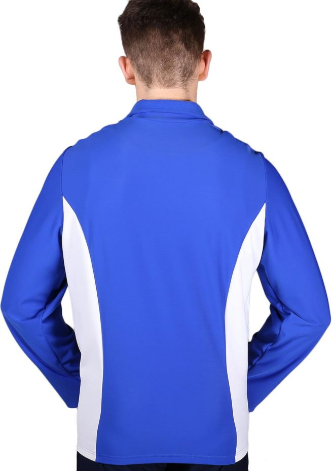 TS12B Royal Blue and White Mens Tracksuit jacket back