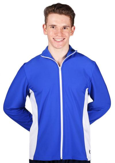 TS12B Royal Blue and White Mens Tracksuit jacket front