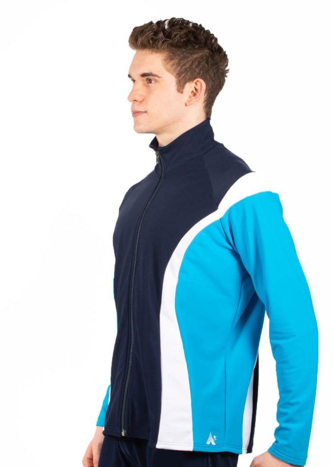 TS17B Male tracksuit jacket navy side