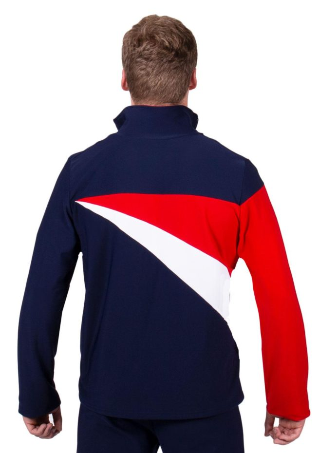 TS20B Navy Red and White mens striking Tracksuit jacket back