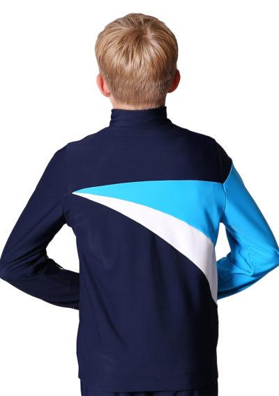 TS20B Navy White and Blue tracksuit jacket for gymnastics back