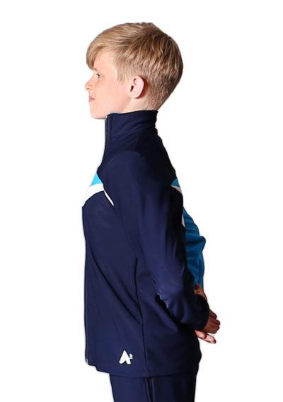 TS20B Navy White and Blue tracksuit jacket for gymnastics side