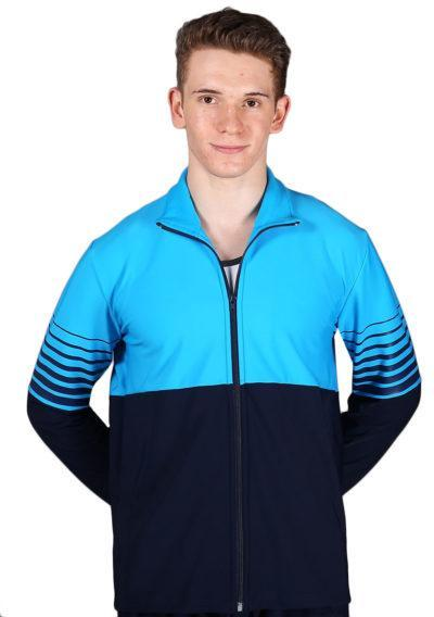 TS63B Navy and Blue mens tracksuit jacket