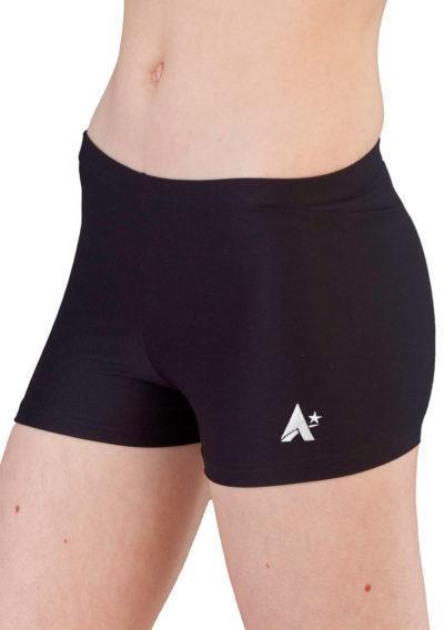 girls black matt shorts