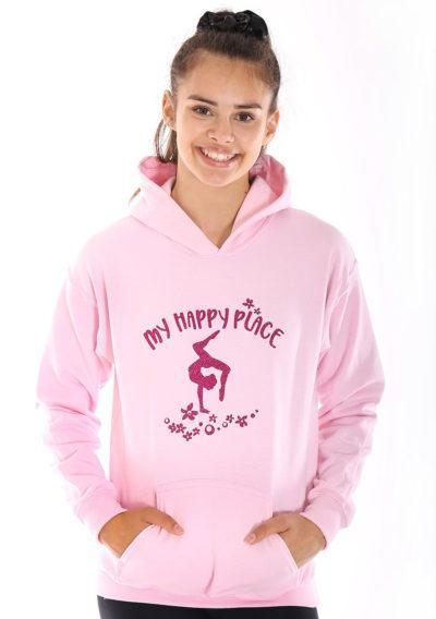 girls pink gymnastics hoodies gymnastics gifts