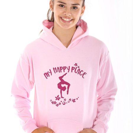 girls pink gymnastics hoodies gymnastics gifts