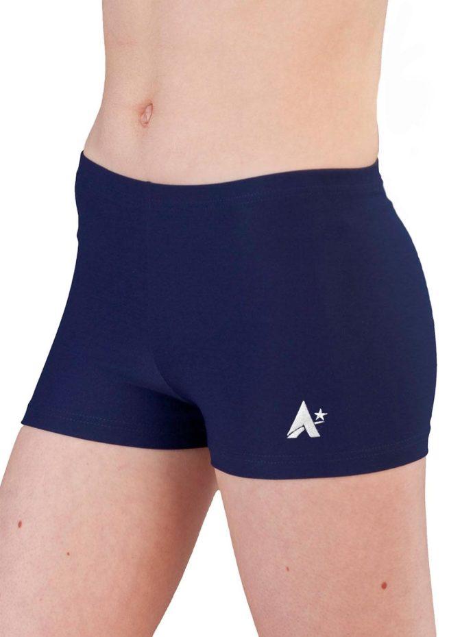 navy matt girls sports shorts