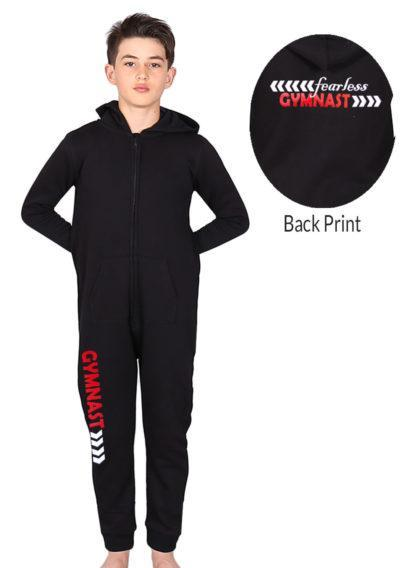 one 01 fear black onesie front