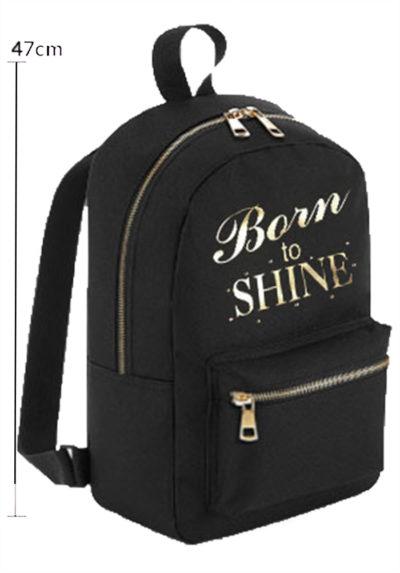 BACKP 01 BSHINE big backpack black gymnastics backpack gold print sports bag kit bag for gymnasts
