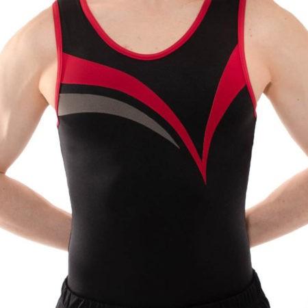 BV451 Shay male boys pink black gym leotard