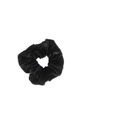 Black velour scrunchie H F01