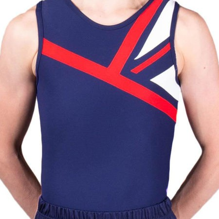 CHARLES BVZ23 Navy union jack leotard