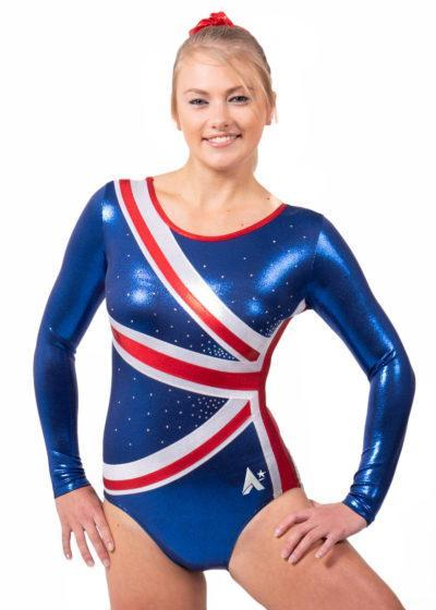 CHARLOTTE K28 navy union jack leotard main