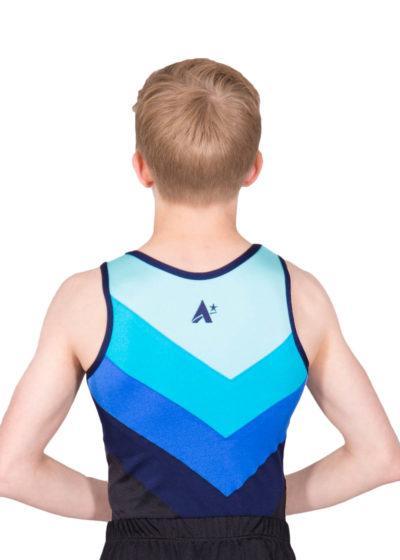 CHASE BV243 Fading blue boys gym leotard back