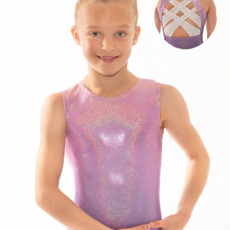 Cerys Z533 Pink to purple ombre with open back detail front