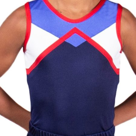 DANNY BV403 MensBoys leotard in Navy White Red and Blue