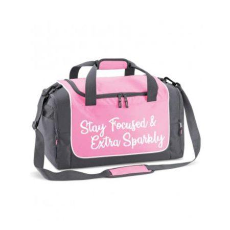 EDIT babypink holdall bag stay focussed extra sparkly