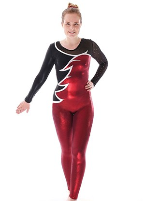 EDITED BURGANDY DIAMONTE LADIES CATSUIT 1
