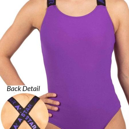 EDITED KYLA black purple gym leotard 2