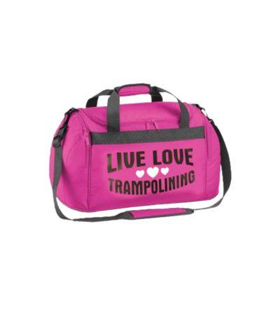 Edit holdall pink live love trampolining 1