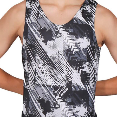 FIERCE BV L115 Boys black patterned leotard