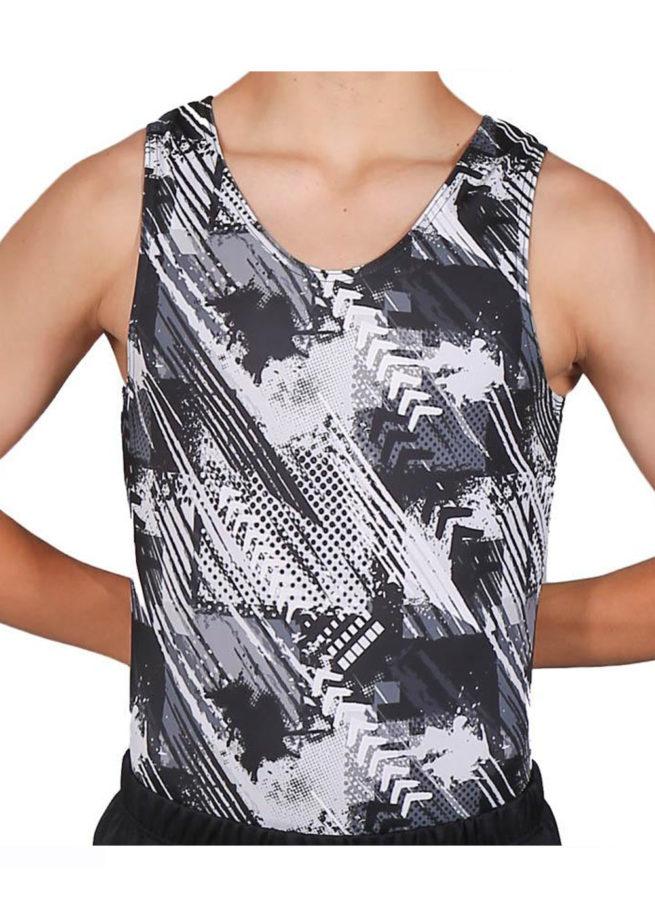 FIERCE BV L115 Boys black patterned leotard